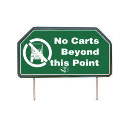 No Carts Beyond this Point